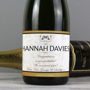 Personalised Damask Champagne