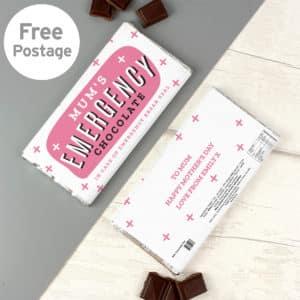 Personalised Ladies Emergency Milk Chocolate Bar