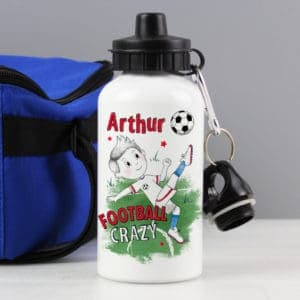 Personalised Football Crazy Drinks Bottle