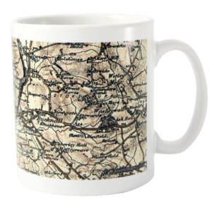 Personalised 1896 - 1904 Revised New Map Mug