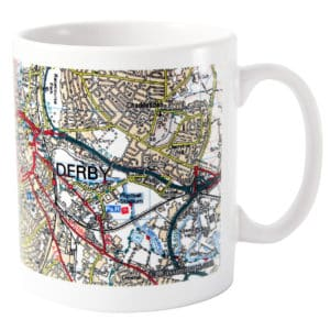 Personalised Present Day Edition Map Mug
