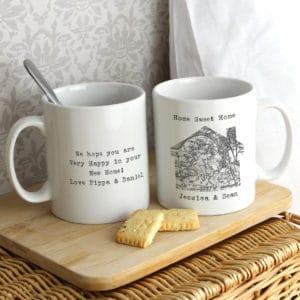 Personalised 1805 - 1874 Old Series Map Home Mug