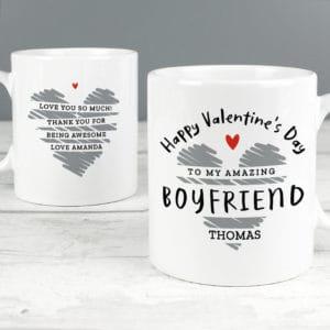 Personalised Happy Valentine's Day Mug