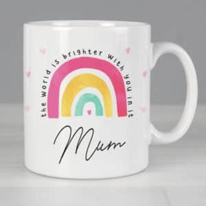 Personalised You Make The World Brighter Mug