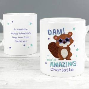 Personalised Dam You're Amazing Mug