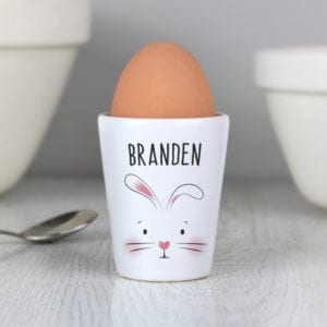 Personalised Bunny Features Egg Cup