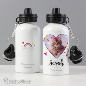 Personalised Rachael Hale Cute Cat Drinks Bottle