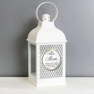 Personalised Opulent White Lantern