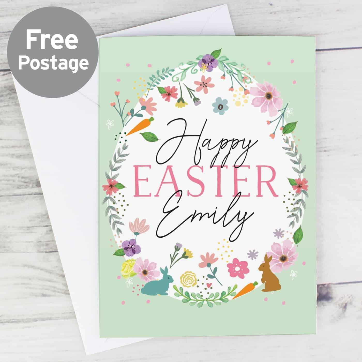 Personalised Easter Springtime Card