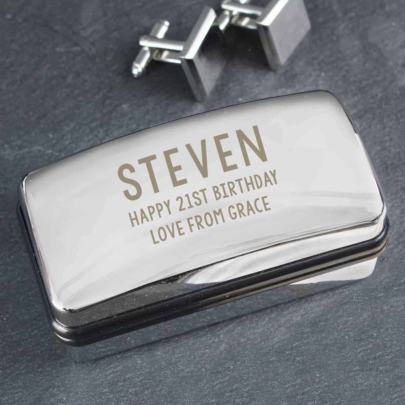 Personalised Free Text Cufflink Box