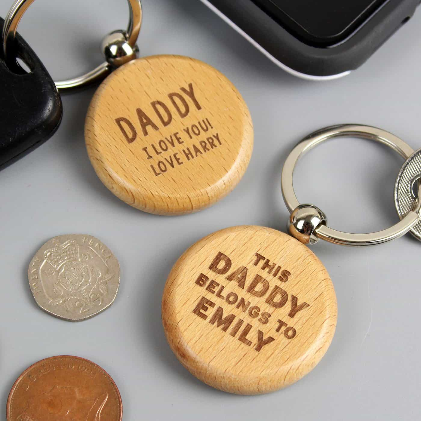 Personalised Free Text Wooden Keyring