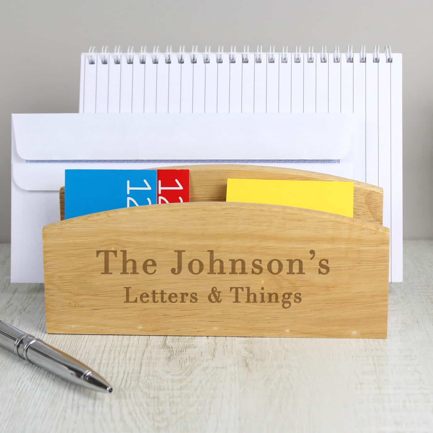 Personalised Free Text Wooden Letter Rack