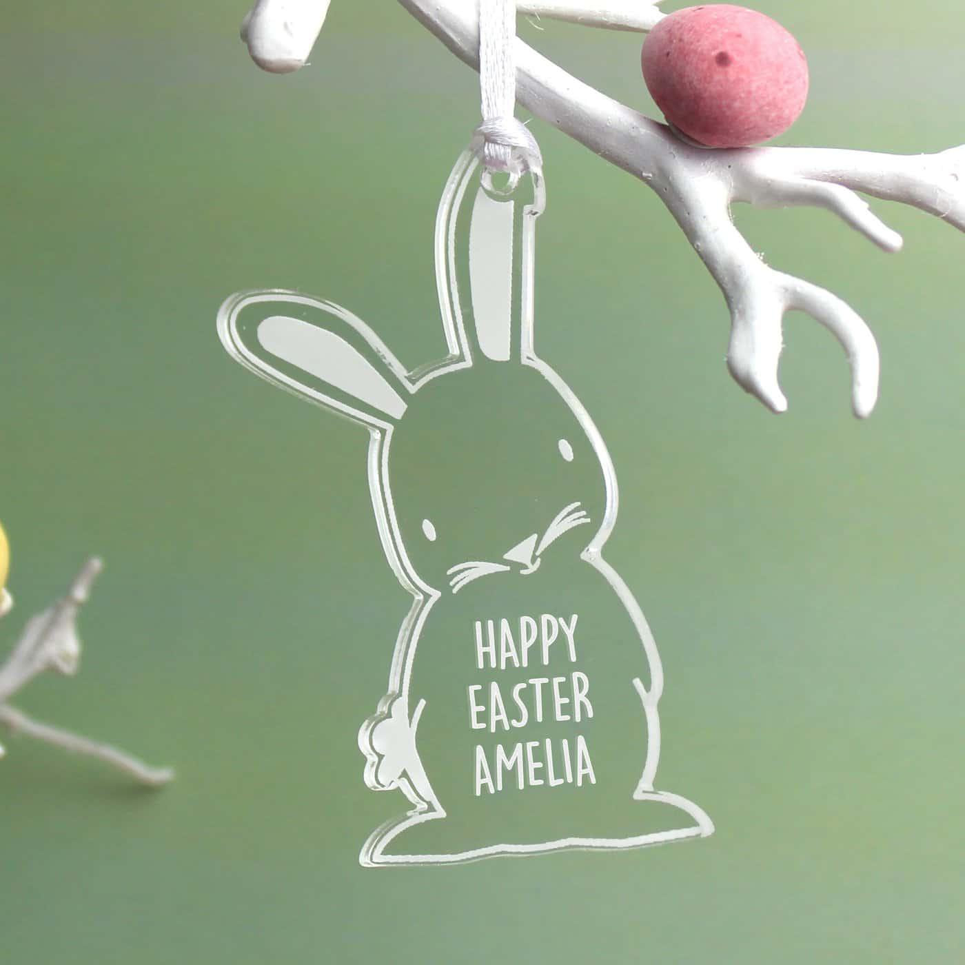Personalised Acrylic Easter Bunny Decoration