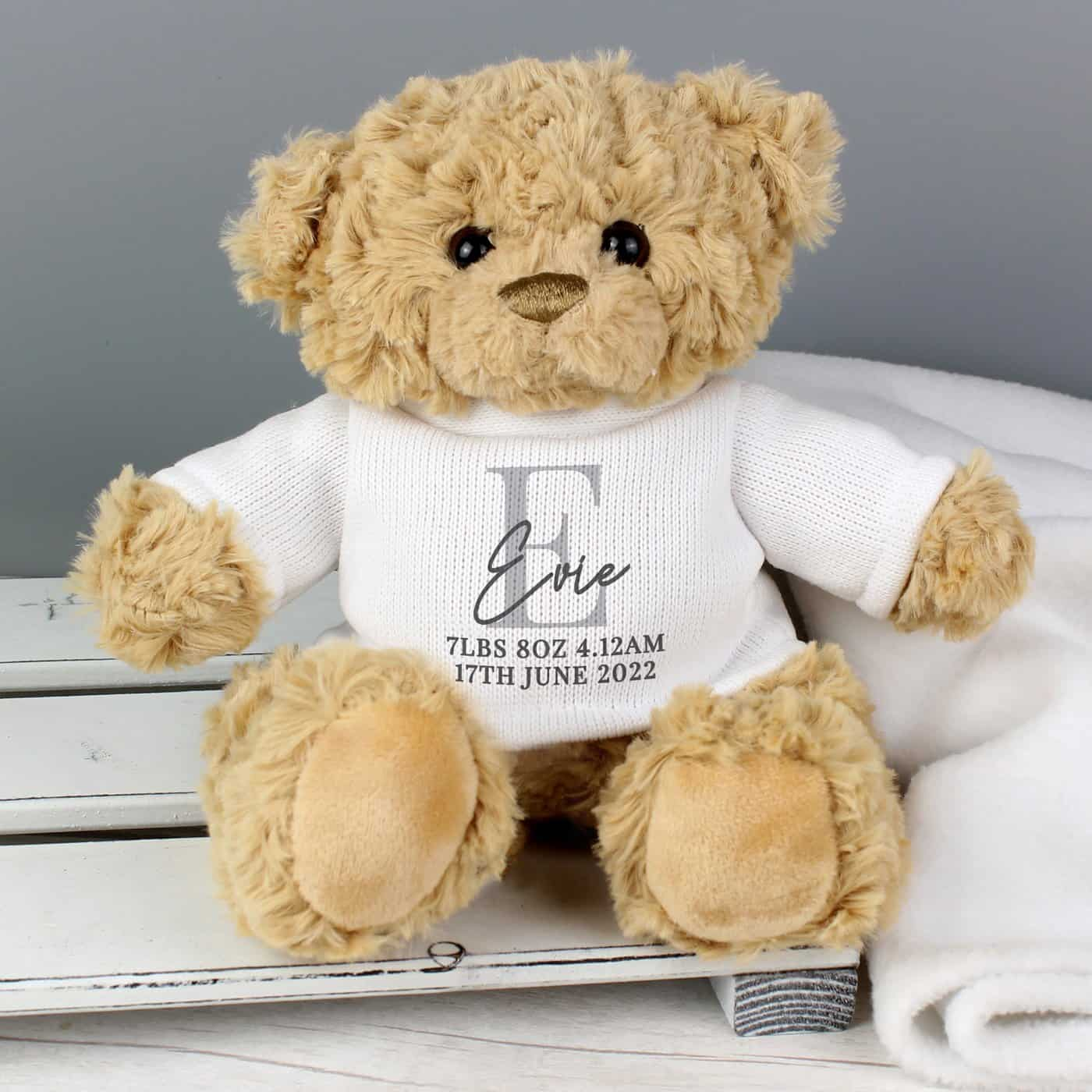 Personalised InitialTeddy Bear