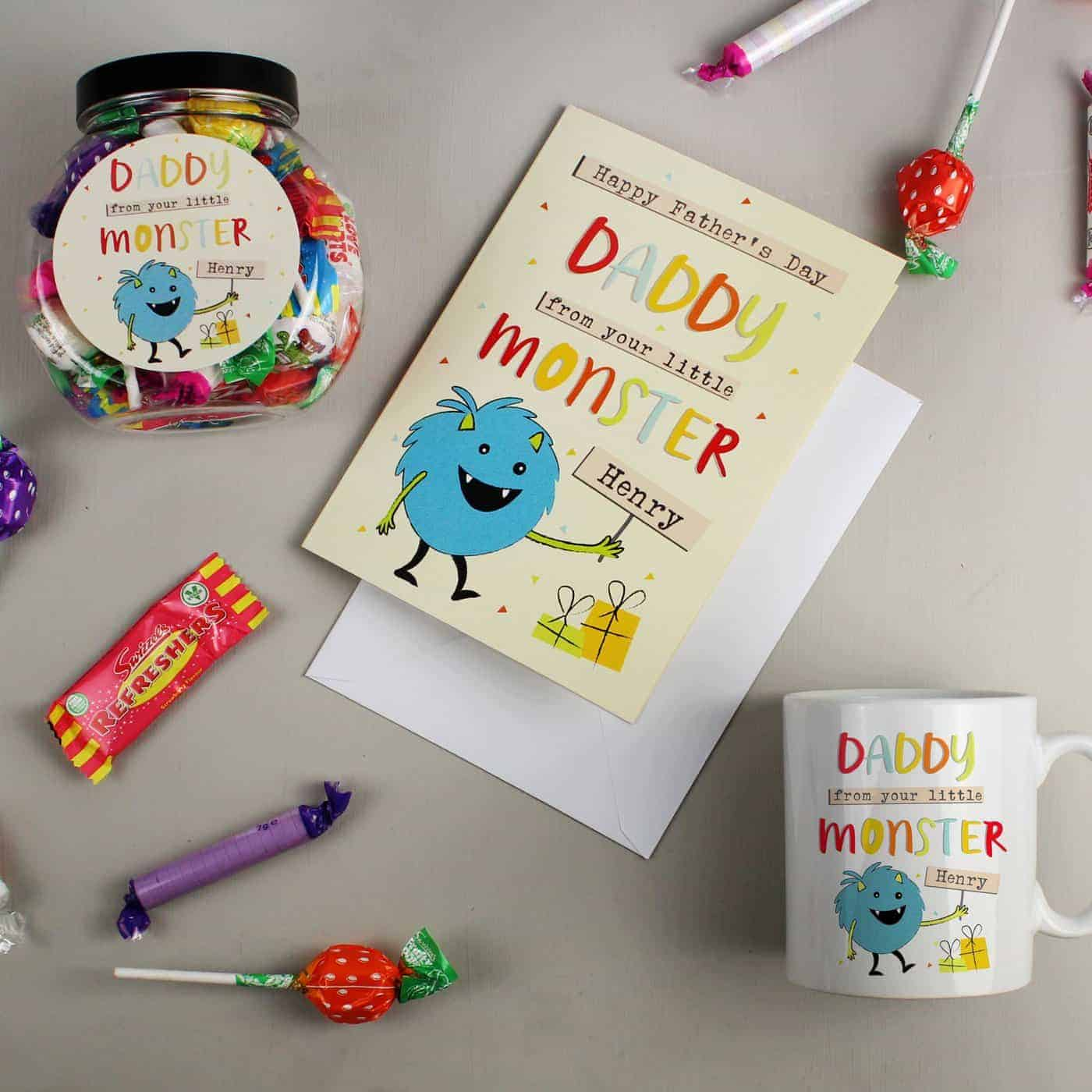 Personalised Little Monster Sweet Jar