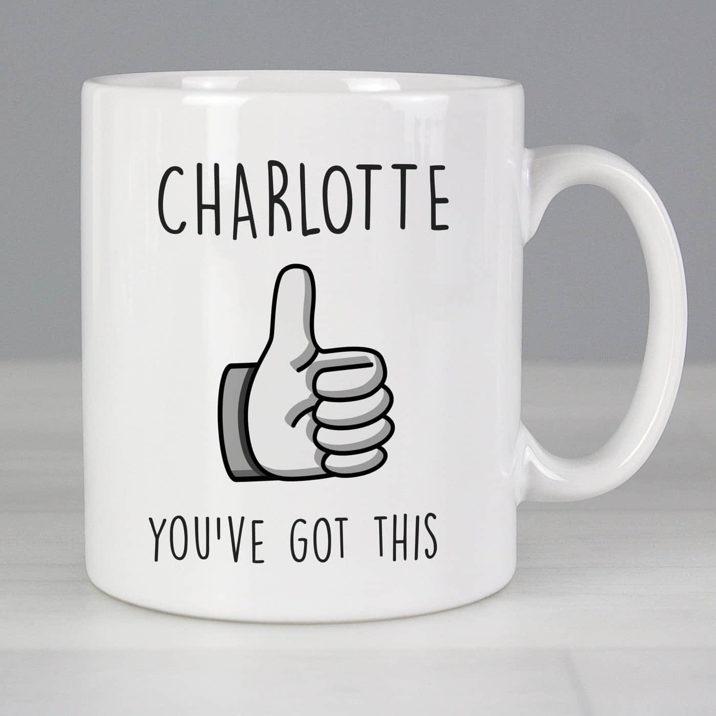 Personalised Thumbs Up Mug