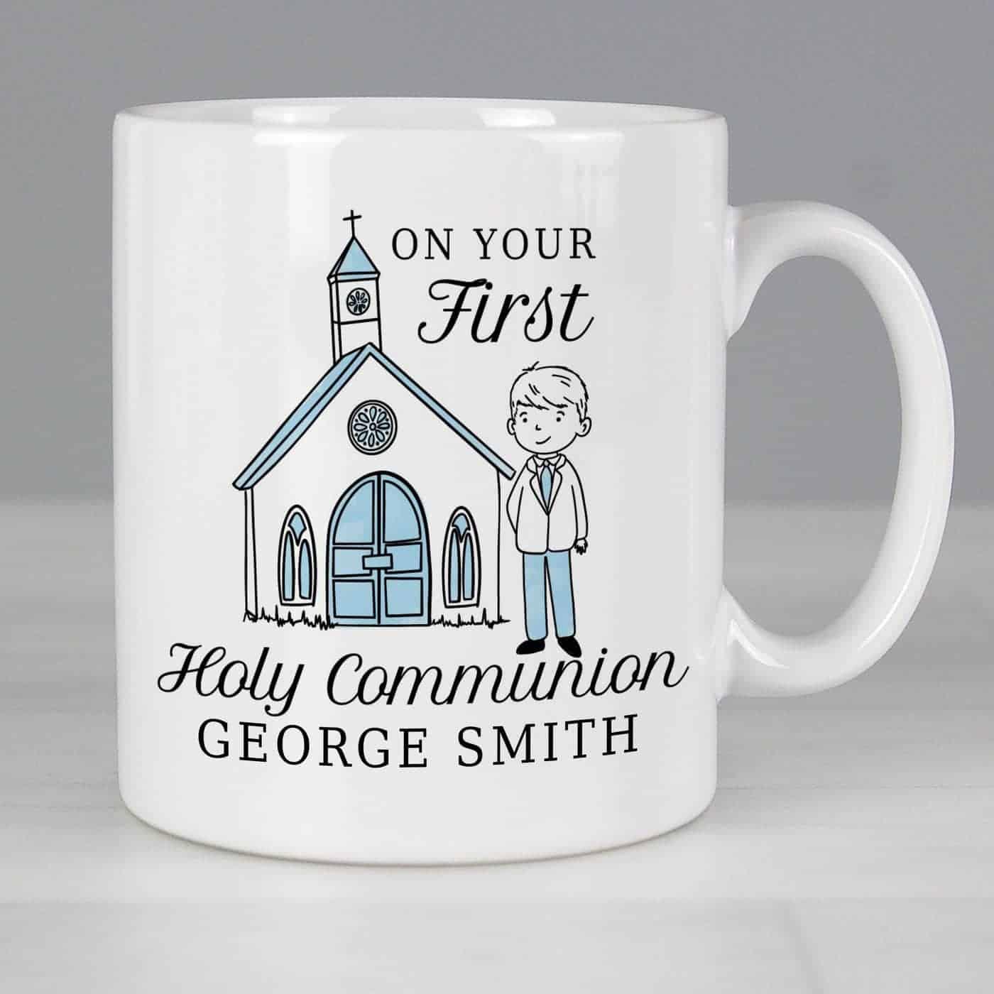 Personalised Boys First Holy Communion Mug