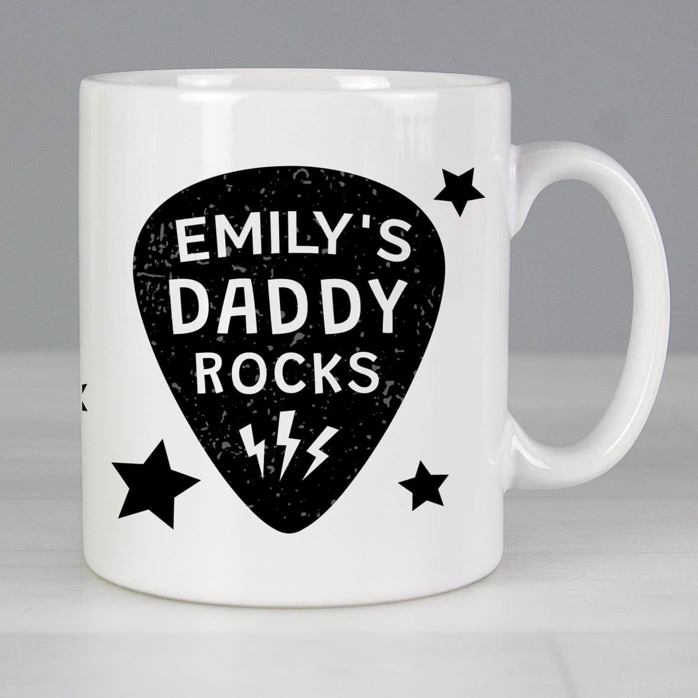 Personalised Daddy Rocks Mug